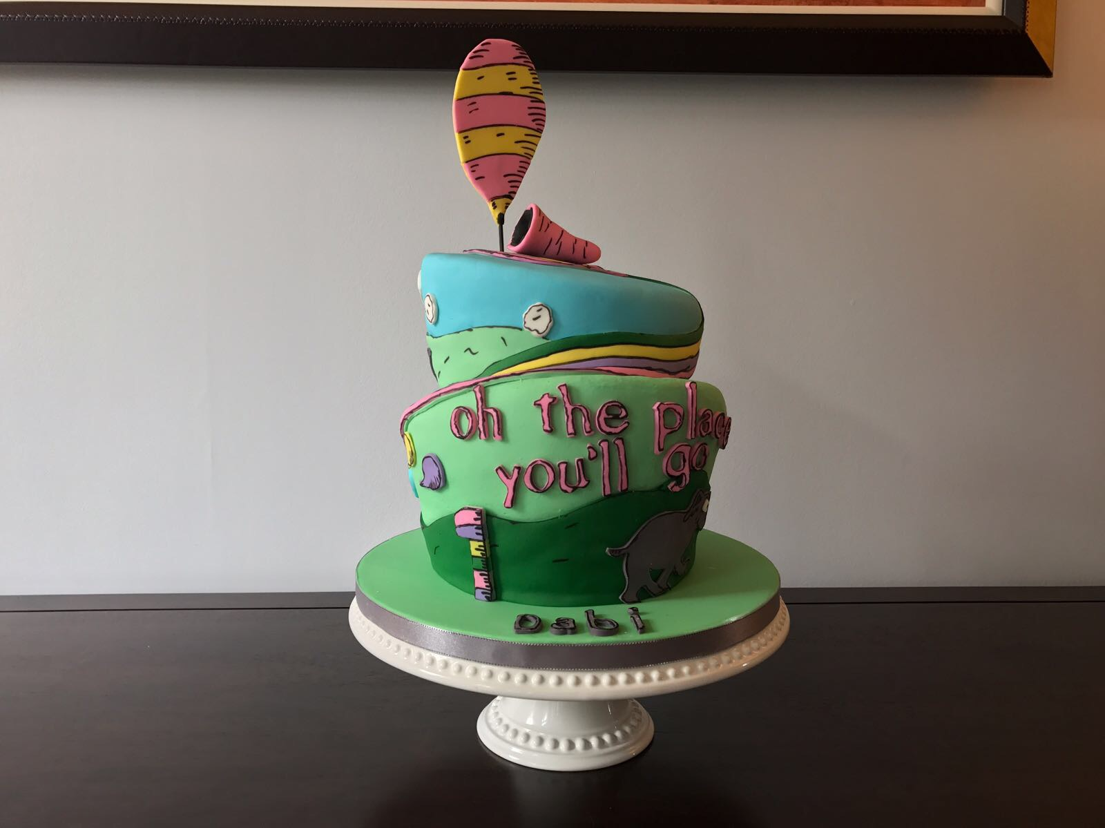 Superb Dr Seuss Oh The Places Youll Go Cake Naijabakes Funny Birthday Cards Online Sheoxdamsfinfo